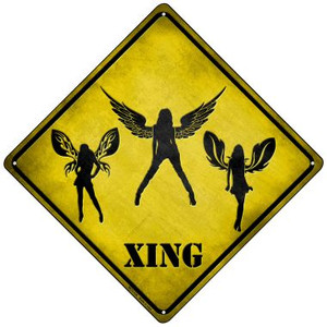 Angels Xing Wholesale Novelty Mini Metal Crossing Sign MCX-138