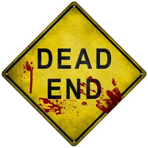Dead End Bloody Wholesale Novelty Mini Metal Crossing Sign MCX-144
