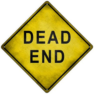 Dead End Wholesale Novelty Mini Metal Crossing Sign MCX-145