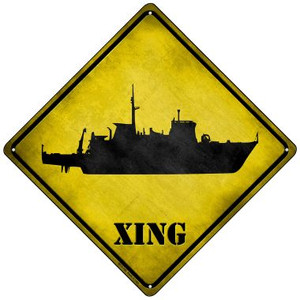 Destroyer Xing Wholesale Novelty Mini Metal Crossing Sign MCX-180