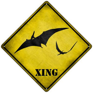 Pterodactyls Xing Wholesale Novelty Mini Metal Crossing Sign MCX-184