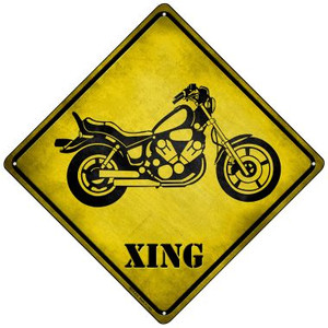 Classic American Chopper Xing Wholesale Novelty Mini Metal Crossing Sign MCX-214