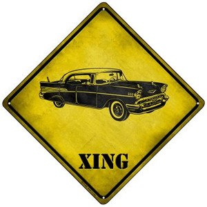 Classic '57 Chevy Xing Wholesale Novelty Mini Metal Crossing Sign MCX-228
