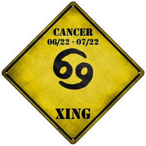 Cancer Xing Wholesale Novelty Mini Metal Crossing Sign MCX-240