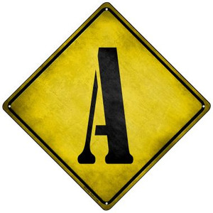 Letter A Xing Wholesale Novelty Mini Metal Crossing Sign MCX-266