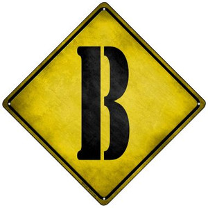 Letter B Xing Wholesale Novelty Mini Metal Crossing Sign MCX-267