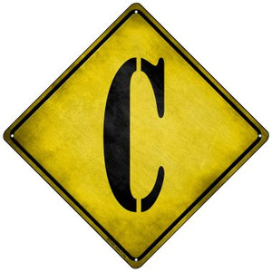 Letter C Xing Wholesale Novelty Mini Metal Crossing Sign MCX-268