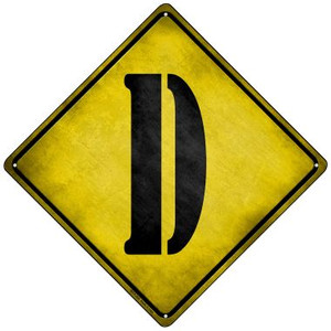 Letter D Xing Wholesale Novelty Mini Metal Crossing Sign MCX-269