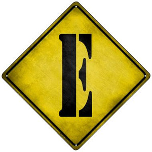 Letter E Xing Wholesale Novelty Mini Metal Crossing Sign MCX-270