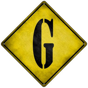 Letter G Xing Wholesale Novelty Mini Metal Crossing Sign MCX-272