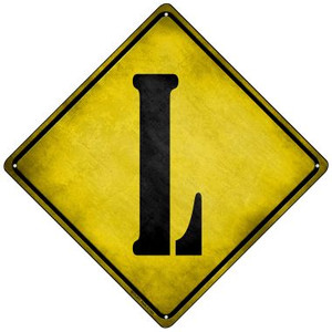 Letter L Xing Wholesale Novelty Mini Metal Crossing Sign MCX-277