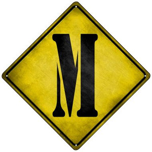 Letter M Xing Wholesale Novelty Mini Metal Crossing Sign MCX-278