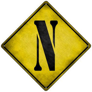 Letter N Xing Wholesale Novelty Mini Metal Crossing Sign MCX-279