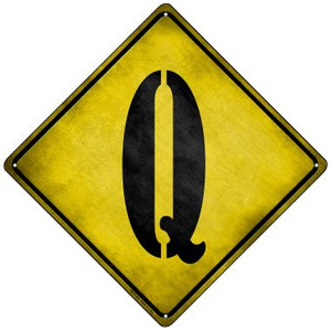 Letter Q Xing Wholesale Novelty Mini Metal Crossing Sign MCX-282