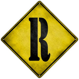 Letter R Xing Wholesale Novelty Mini Metal Crossing Sign MCX-283