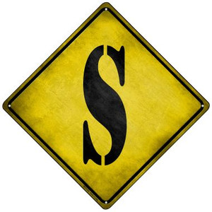 Letter S Xing Wholesale Novelty Mini Metal Crossing Sign MCX-284