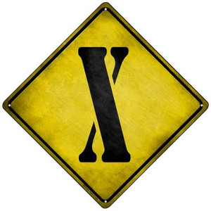 Letter X Xing Wholesale Novelty Mini Metal Crossing Sign MCX-289