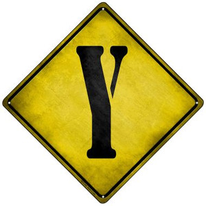 Letter Y Xing Wholesale Novelty Mini Metal Crossing Sign MCX-290