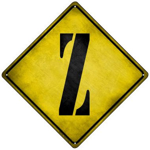 Letter Z Xing Wholesale Novelty Mini Metal Crossing Sign MCX-291