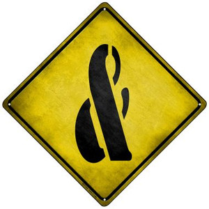 Ampersand Symbol Xing Wholesale Novelty Mini Metal Crossing Sign MCX-295