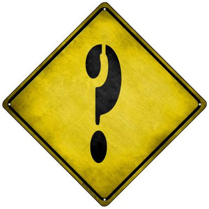 Question Mark Xing Wholesale Novelty Mini Metal Crossing Sign MCX-296
