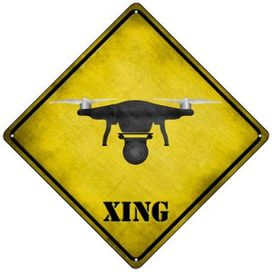 Drone Xing Wholesale Novelty Mini Metal Crossing Sign MCX-310