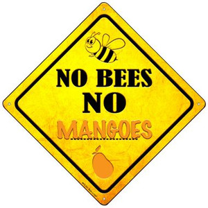 No Bees No Mangoes Wholesale Novelty Mini Metal Crossing Sign MCX-332