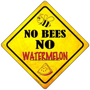 No Bees No Watermelon Wholesale Novelty Mini Metal Crossing Sign MCX-336