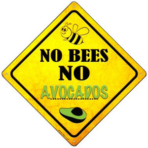 No Bees No Avocados Wholesale Novelty Mini Metal Crossing Sign MCX-337
