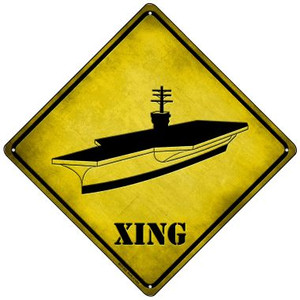 Aircraft Carrier Wholesale Novelty Mini Metal Crossing Sign