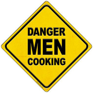 Danger Men Cooking Wholesale Novelty Mini Metal Crossing Sign MCX-366