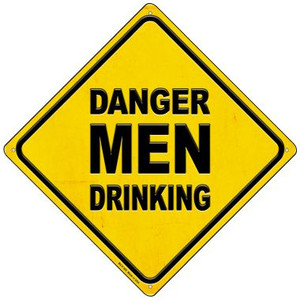 Danger Men Drinking Wholesale Novelty Mini Metal Crossing Sign MCX-368