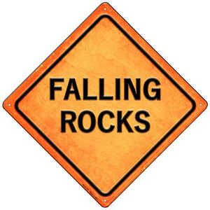 Falling Rocks Wholesale Novelty Mini Metal Crossing Sign MCX-376