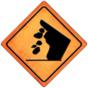 Falling Rocks Cliff Wholesale Novelty Mini Metal Crossing Sign
