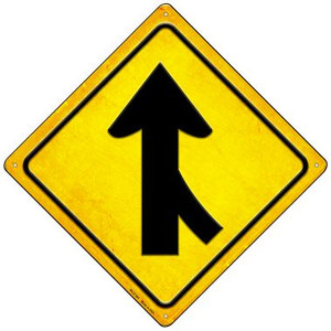Lane Merging From Right Wholesale Novelty Mini Metal Crossing Sign MCX-383