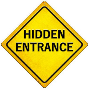 Hidden Entrance Wholesale Novelty Mini Metal Crossing Sign MCX-384