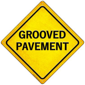 Grooved Pavement Wholesale Novelty Mini Metal Crossing Sign MCX-385