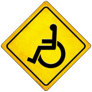 Handicap Yellow Wholesale Novelty Mini Metal Crossing Sign