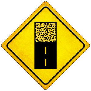 Gravel Ahead Wholesale Novelty Mini Metal Crossing Sign