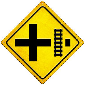 4 Way Tracks Right Wholesale Novelty Mini Metal Crossing Sign