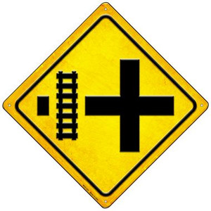 4 Way Tracks Left Wholesale Novelty Mini Metal Crossing Sign