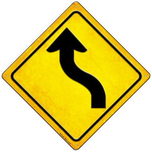 Curve Left Wholesale Novelty Mini Metal Crossing Sign MCX-456