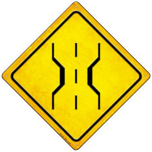 1 Lane Bridge Wholesale Novelty Mini Metal Crossing Sign
