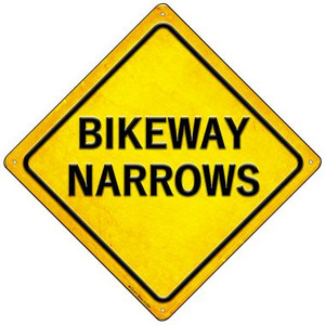 Bikeway Narrows Wholesale Novelty Mini Metal Crossing Sign MCX-571
