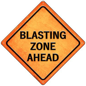 Blasting Zone Ahead Wholesale Novelty Mini Metal Crossing Sign MCX-583
