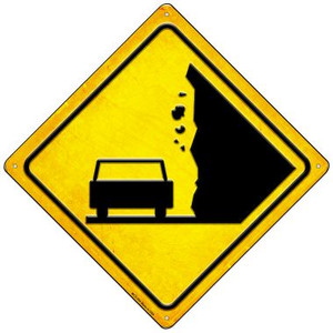 Falling Rocks Car Wholesale Novelty Mini Metal Crossing Sign