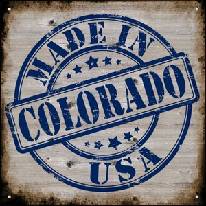 Colorado Stamp On Wood Wholesale Novelty Mini Metal Square MSQ-111
