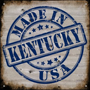 Kentucky Stamp On Wood Wholesale Novelty Mini Metal Square MSQ-122
