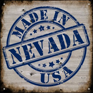 Nevada Stamp On Wood Wholesale Novelty Mini Metal Square MSQ-133