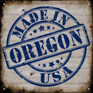 Oregon Stamp On Wood Wholesale Novelty Mini Metal Square MSQ-142